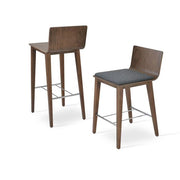 Soho Concept Corona Wood Bar Stools With Dallas Seat - YourBarStoolStore + Chairs, Tables and Outdoor - 8