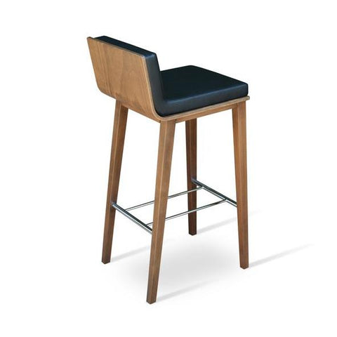 Soho Concept Corona Wood Bar Stools With Dallas Seat - YourBarStoolStore + Chairs, Tables and Outdoor - 9