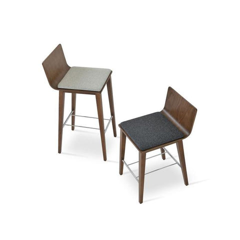 Soho Concept Corona Wood Bar Stools With Dallas Seat - YourBarStoolStore + Chairs, Tables and Outdoor - 10