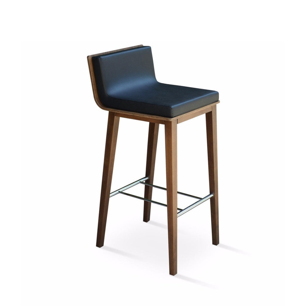 Soho Concept Corona Wood Bar Stools With Dallas Seat - YourBarStoolStore + Chairs, Tables and Outdoor - 1