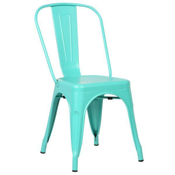 Tolix Style Side Chair in Aqua
