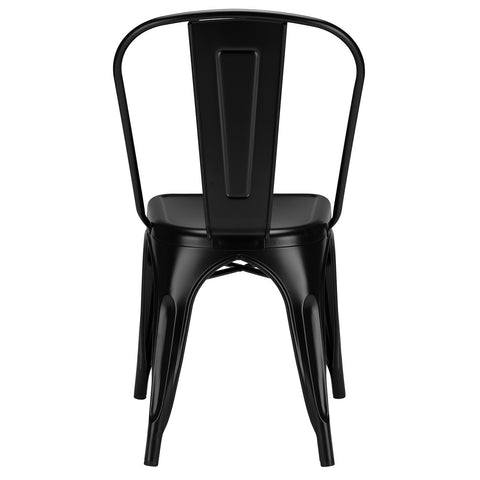 Tolix Style Side Chair in Black