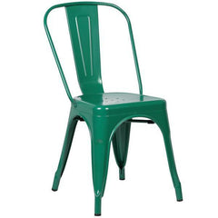 Tolix Style Side Chair in Dark Green