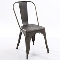 Tolix Style Side Chair in Bronze
