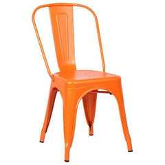 Tolix Style Side Chair in Orange