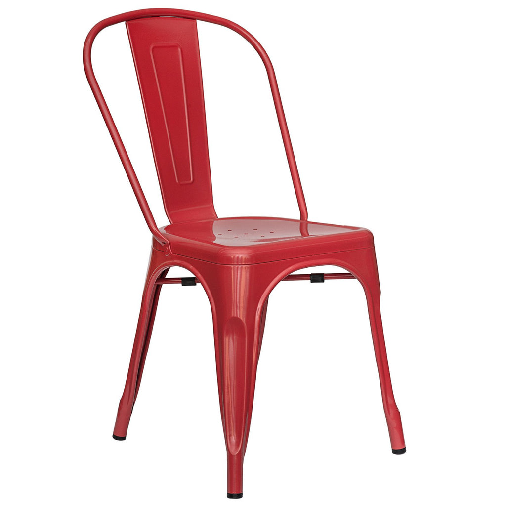 Tolix Style Side Chair in Red
