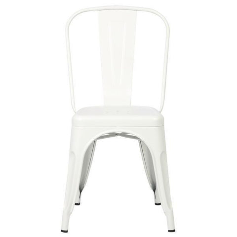 Tolix Style Side Chair in White