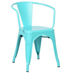 Tolix Style Arm Chair in Aqua