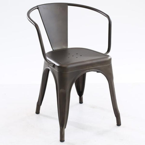 Tolix Style Arm Chair in Bronze