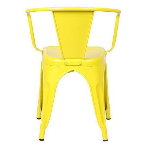 Tolix Style Arm Chair in Yellow