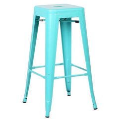 Tolix Style Bar Stool in Aqua