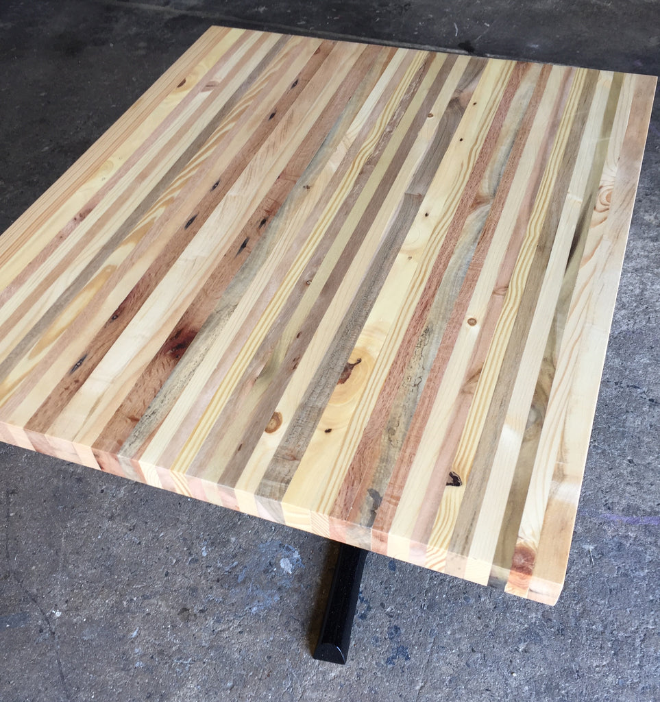 Reclaimed Pallet Wood Table Top Indoor Restaurant Furniture Plus - Custom made wood table tops