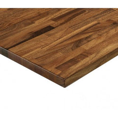 Saman Hardwood Table Top - Exotic Walnut Finish