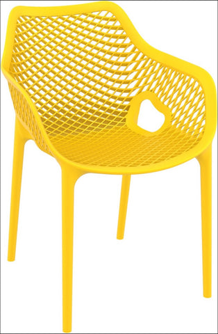 Compamia Air XL Outdoor Dining Arm Chair Yellow ISP007-YEL - RestaurantFurniturePlus + Chairs, Tables and Outdoor - 1