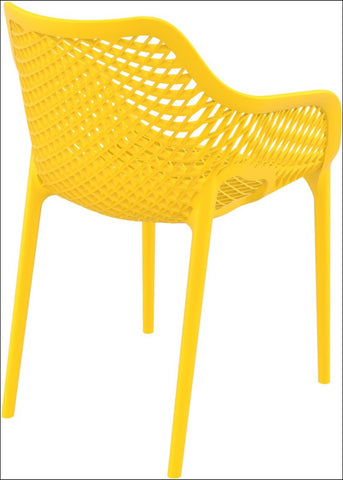 Compamia Air XL Outdoor Dining Arm Chair Yellow ISP007-YEL - RestaurantFurniturePlus + Chairs, Tables and Outdoor - 2