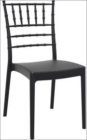 Compamia Josephine Outdoor Dining Chair Black ISP050-BLA - RestaurantFurniturePlus + Chairs, Tables and Outdoor - 1