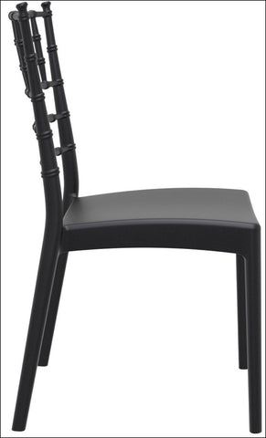 Compamia Josephine Outdoor Dining Chair Black ISP050-BLA - RestaurantFurniturePlus + Chairs, Tables and Outdoor - 2