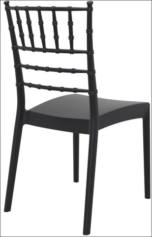 Compamia Josephine Outdoor Dining Chair Black ISP050-BLA - RestaurantFurniturePlus + Chairs, Tables and Outdoor - 4