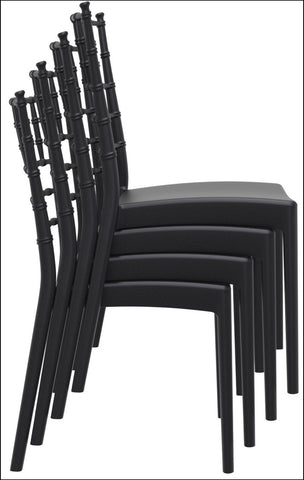 Compamia Josephine Outdoor Dining Chair Black ISP050-BLA - RestaurantFurniturePlus + Chairs, Tables and Outdoor - 6