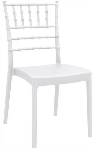 Compamia Josephine Outdoor Dining Chair White ISP050-WHI - RestaurantFurniturePlus + Chairs, Tables and Outdoor - 1