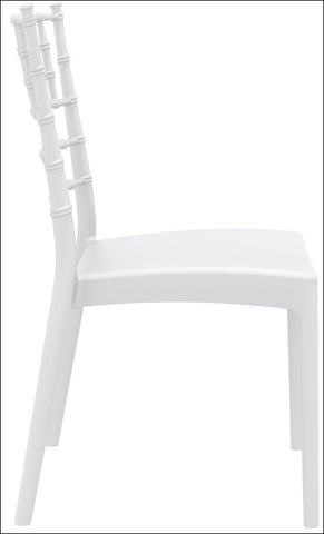 Compamia Josephine Outdoor Dining Chair White ISP050-WHI - RestaurantFurniturePlus + Chairs, Tables and Outdoor - 2