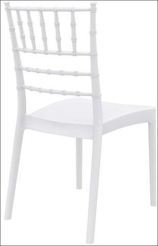 Compamia Josephine Outdoor Dining Chair White ISP050-WHI - RestaurantFurniturePlus + Chairs, Tables and Outdoor - 4