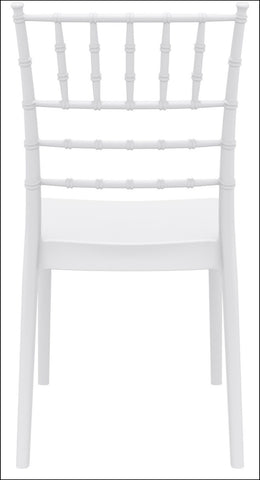 Compamia Josephine Outdoor Dining Chair White ISP050-WHI - RestaurantFurniturePlus + Chairs, Tables and Outdoor - 5