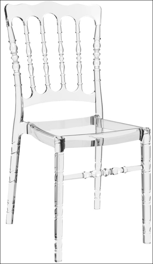 Compamia Opera Polycarbonate Dining Chair Transparent Clear ISP061-TCL - YourBarStoolStore + Chairs, Tables and Outdoor  - 1