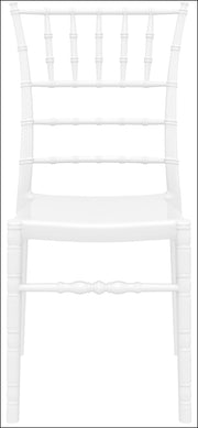Compamia Chiavari Polycarbonate Dining Chair Glossy White ISP071-GWHI - YourBarStoolStore + Chairs, Tables and Outdoor  - 3