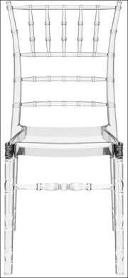 Compamia Chiavari Polycarbonate Dining Chair Transparent Clear ISP071-TCL - YourBarStoolStore + Chairs, Tables and Outdoor  - 5