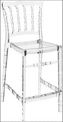 Compamia Opera Polycarbonate Counter Stool Transparent Clear ISP074-TCL - YourBarStoolStore + Chairs, Tables and Outdoor  - 1