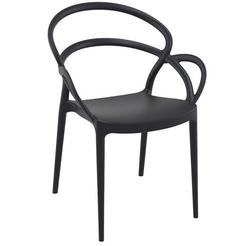 Compamia Mila Dining Arm Chair Black ISP085-BLA - RestaurantFurniturePlus + Chairs - 1