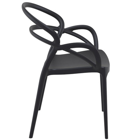Compamia Mila Dining Arm Chair Black ISP085-BLA - RestaurantFurniturePlus + Chairs - 2