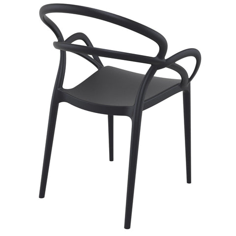 Compamia Mila Dining Arm Chair Black ISP085-BLA - RestaurantFurniturePlus + Chairs - 4