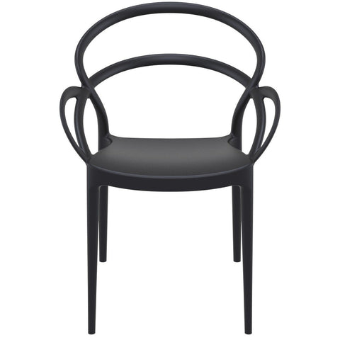 Compamia Mila Dining Arm Chair Black ISP085-BLA - RestaurantFurniturePlus + Chairs - 3
