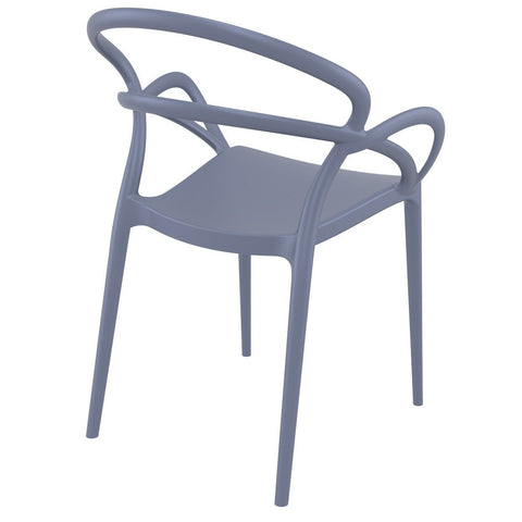 Compamia Mila Dining Arm Chair Dark Gray ISP085-DGR - RestaurantFurniturePlus + Chairs - 4
