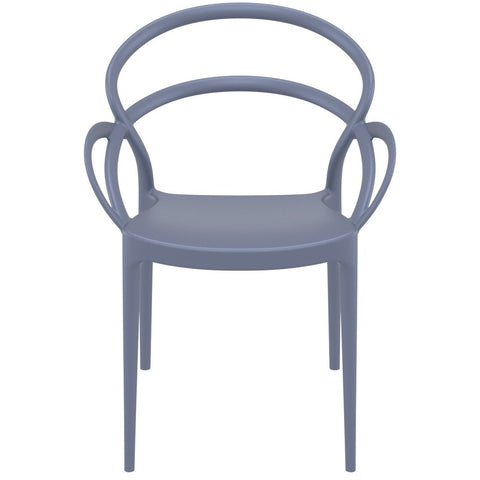 Compamia Mila Dining Arm Chair Dark Gray ISP085-DGR - RestaurantFurniturePlus + Chairs - 3