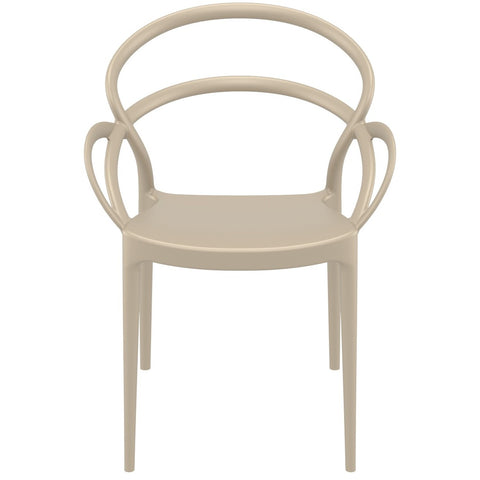 Compamia Mila Dining Arm Chair Dove Gray ISP085-DVR - RestaurantFurniturePlus + Chairs - 3