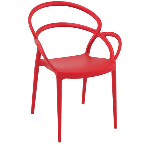 Compamia Mila Dining Arm Chair Red ISP085-RED - RestaurantFurniturePlus + Chairs - 1
