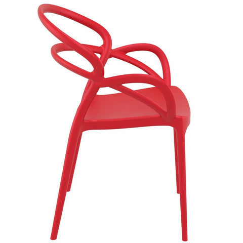 Compamia Mila Dining Arm Chair Red ISP085-RED - RestaurantFurniturePlus + Chairs - 2