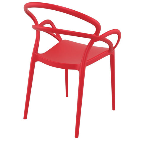 Compamia Mila Dining Arm Chair Red ISP085-RED - RestaurantFurniturePlus + Chairs - 4