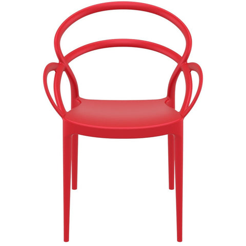 Compamia Mila Dining Arm Chair Red ISP085-RED - RestaurantFurniturePlus + Chairs - 3