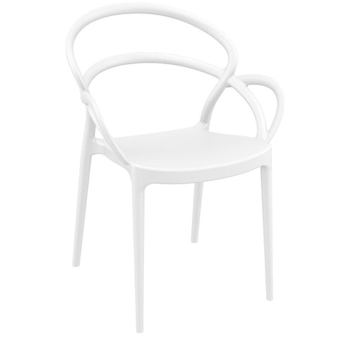 Compamia Mila Dining Arm Chair White ISP085-WHI - RestaurantFurniturePlus + Chairs - 1