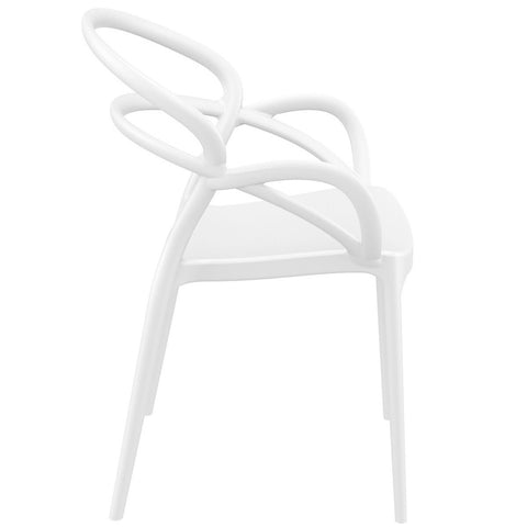 Compamia Mila Dining Arm Chair White ISP085-WHI - RestaurantFurniturePlus + Chairs - 2