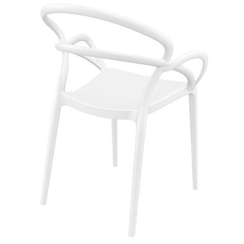 Compamia Mila Dining Arm Chair White ISP085-WHI - RestaurantFurniturePlus + Chairs - 4