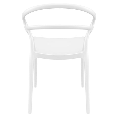 Compamia Mila Dining Arm Chair White ISP085-WHI - RestaurantFurniturePlus + Chairs - 5