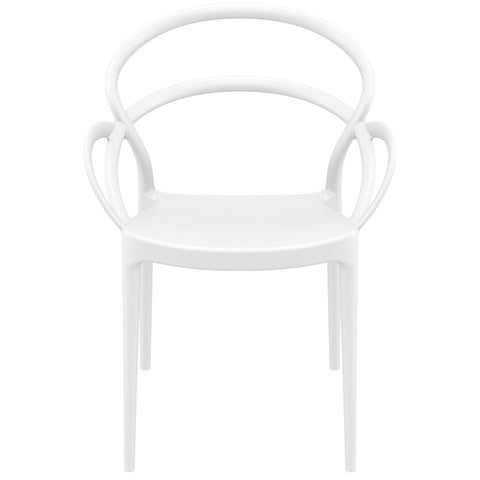 Compamia Mila Dining Arm Chair White ISP085-WHI - RestaurantFurniturePlus + Chairs - 3