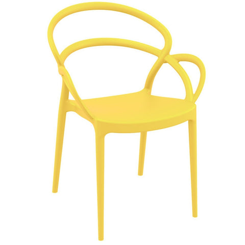 Compamia Mila Dining Arm Chair Yellow ISP085-YEL - RestaurantFurniturePlus + Chairs - 1