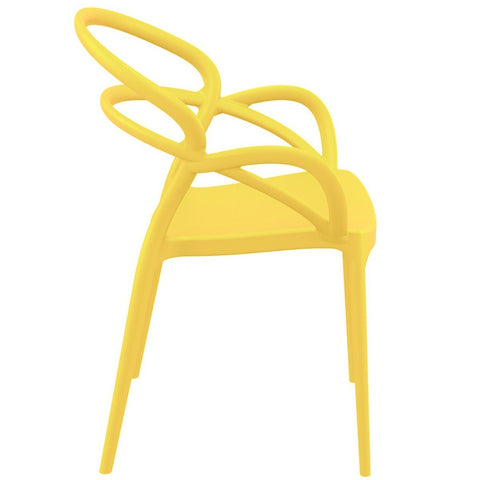 Compamia Mila Dining Arm Chair Yellow ISP085-YEL - RestaurantFurniturePlus + Chairs - 5