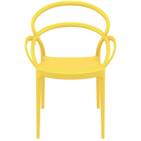 Compamia Mila Dining Arm Chair Yellow ISP085-YEL - RestaurantFurniturePlus + Chairs - 4